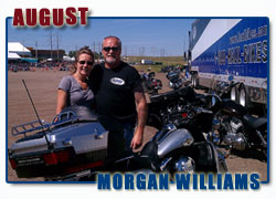 Morgan Williams and wife Rhonda