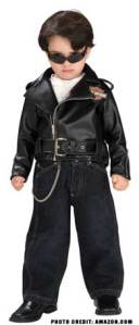 Motorcycle Halloween costumes for kids and dogs